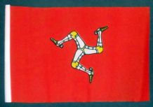 "ISLE OF MAN - SMALL BUDGET FLAG 9"" X 6"""